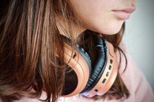 音楽好き女子の横顔