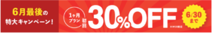 ブライダルネット1ヶ月30%OFF
